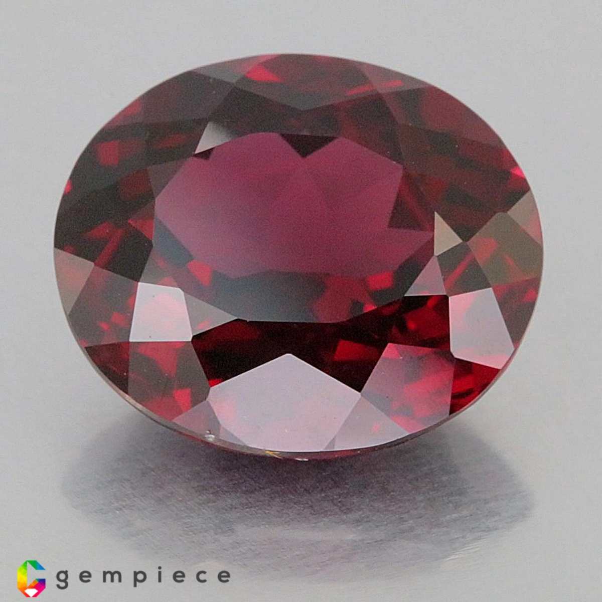 two 10x8 oval garnet cabochon gem stone gemstone